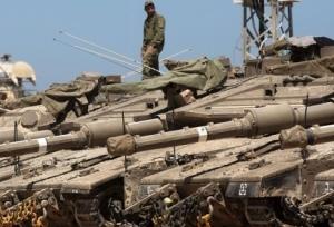 Israeli tanks deployed