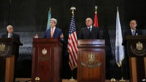 Kerry at al at press conf in Cairo