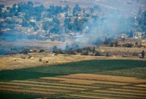 Smoke rises in Golan Heights