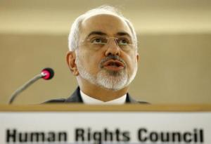 Iranian Foreign Minister  Zarif addresses Human Rights Council at UN in Geneva