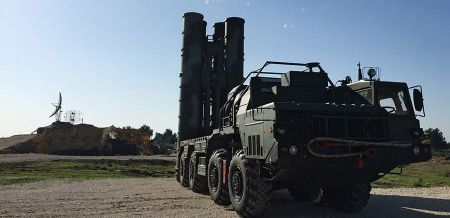 2746772 11/26/2015 An S-400 air defence missile system is deployed for a combat duty at the Hmeymim airbase to provide security of the Russian air group's flights in Syria. Dmitriy Vinogradov/Sputnik