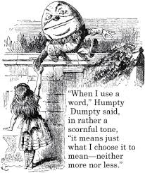 Humpty Dumpty words