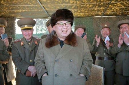 Kim Chi-un laughing at Obama