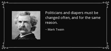 Politicians and diapers