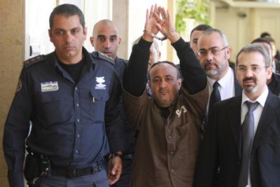 Terrorist leader Marwan Barghouti, remains wildly popular among Palestinian Authority citizens despite being imprisoned for life. Photo Credit: Flash 90