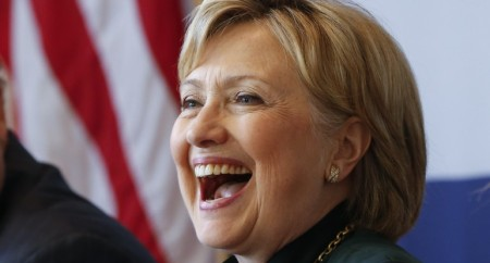 Laughing Hillary