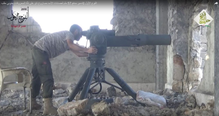 Aleppo_Rebels_ATGM-firings