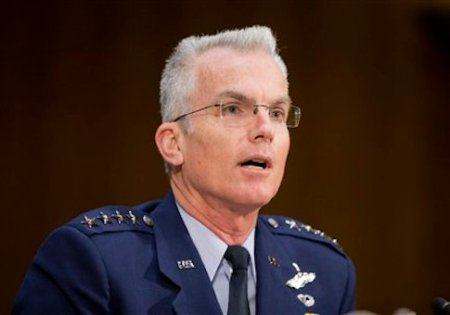 Joints Chiefs of Staff Vice Chairman Gen. Paul Selva testifies before the Senate Armed Services Committee in Washington, Wednesday, Dec. 9, 2015. (AP Photo/Pablo Martinez Monsivais)