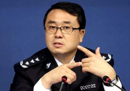 FILE - In this Oct. 21, 2008 file photo, then Chonqing city police chief Wang Lijun speaks during a press conference in Chongqing, southwestern China. A Chinese court sentenced the former police who exposed a murder by a Chinese politician's wife to 15 years in prison Monday, Sept. 24, 2012, in a decision that sets the stage for China's leadership to wrap up a seamy political scandal and move ahead with a generational handover of power. (AP Photo/File) CHINA OUT