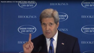 John Kerry wagging his finger at