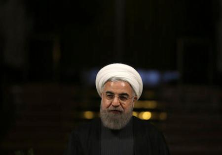 Iranian President Hassan Rouhani speaks in a news briefing after his meeting with his Slovenian counterpart Borut Pahor at the Saadabad palace in Tehran, Iran, Tuesday, Nov. 22, 2016. (AP Photo/Vahid Salemi)