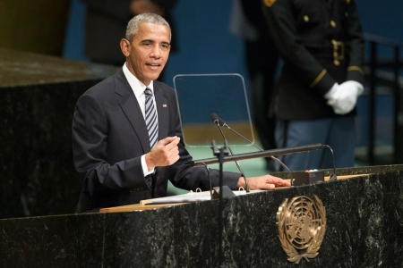 President Barack Obama addresses the general debate of the General Assembly's seventy-first session, September 20, 2016. UN Photo/Manuel Elias US President Addresses the Hall. General Debate of the seventy-first Regular Session of the General Assembly