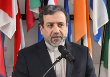 Abbas Araqchi, Iran's deputy foreign minister for legal and international affairs and top nuclear negotiator, meets the press in Vienna, Austria, on Feb. 24, 2015, after talking with International Atomic Energy Agency chief Yukiya Amano on Tehran's nuclear program. (Kyodo) ==Kyodo