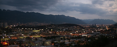 27 Jun 2006, Monterrey, Mexico --- View of Monterrey city and the Chair Hill seen from the Bishop Hill. Monterrey is wealthiest city of Mexico, capital of the Northern state of Nuevo Leon, and 100 miles from the US border. --- Image by © Diego Giudice/Corbis