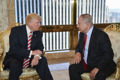 Prime Minister Benjamin Netanyahu meets with Republican Presidential candidate, Donald Trump, in New York, on September 25, 2016. Photo by Kobi Gideon/GPO *** Local Caption *** ??? ?????? ?????? ?????? ???? ?? ????? ?????????? ? ?????? ????? ?????, ????? ????? ? ??? ???? ?????