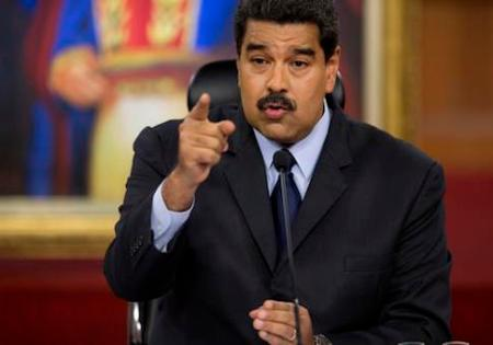Venezuela's President Nicolas Maduro, speaks during a press conference with international and national press at Miraflores presidential palace in Caracas, Venezuela, Wednesday, Jan. 18, 2017. Maduro speaks about the economic war his government have faced and measures to stabilize economy. (AP Photo/Ariana Cubillos)