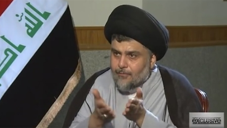 Influential Shiite leader in Iraq, Muqtada al-Sadr. Refusing to serve Iran's interests