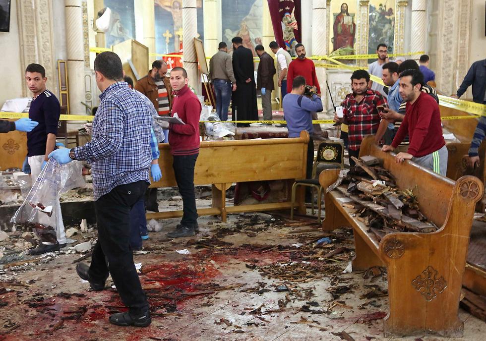 The Tanta Coptic church attack (Photo: AFP)