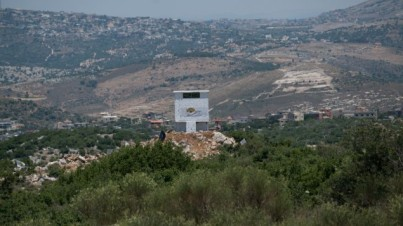 An installation of the Lebanese agricultural NGO 'Green without Borders' that the IDF says serves as an observation outpost for Hezbollah on the Israeli-Lebanese border, publicized on June 22, 2017. (IDF Spokesperson's Unit)