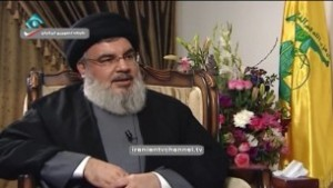Screen capture of Hezbollah secretary-general Hassan Nasrallah during an interview with Iran's state-run Islamic Republic News Agency, February 20, 2017. (screen capture: IRANIANTVCHANNEL/YouTube)