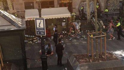 The scene in Barcelona.