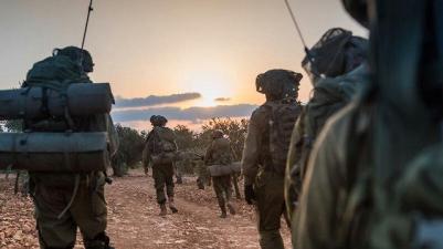 IDF forces practice near Syrian border (Photo: IDF Spokesperson's Unit)