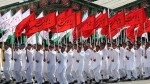 Members of Iranian armed forces march during a parade inTehran