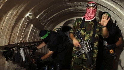 Hamas fighters inside a terror tunnel in Gaza (Photo: Reuters)