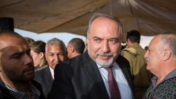 Defense Minister Avigdor Lieberman at an event in Jerusalem, May 2, 2018.