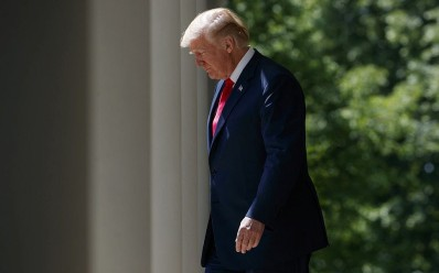 US President Donald Trump in the Rose Garden of the White House, Thursday, May 3, 2018, in Washington. (AP Photo/Evan Vucci)
