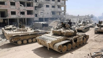 Syrian army tanks (Photo: AFP)