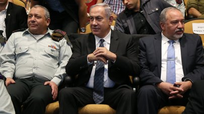 IDF Chief of Staff Eisenkot, Prime Minister Netanyahu and Defense Minister Lieberman (Photo: Shaul Golan)