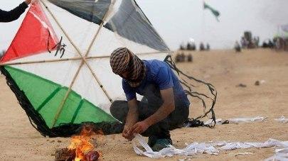 Incendiary kite terrorism  (Photo: AFP)