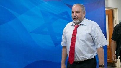 Defense Minister Lieberman (Photo: Ohad Zwigenberg)