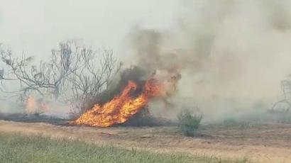 Fire caused by incendiary kite