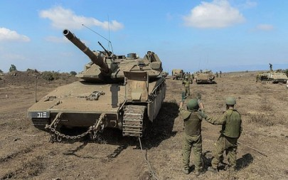 Israeli troops take part in an exercise on the Golan Heights in August 2018. (Israel Defense Forces)