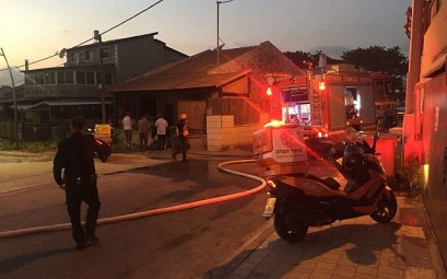 Emergency medical personnel respond to a rocket attack from the Gaza Strip that hit the southern Israeli town of Sderot on August 8, 2018. (United Hatzalah)