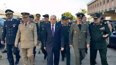 Amir Hatami, Iranian Defence Minister, during a visit to Damascus