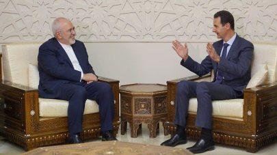 President of Syria Bashar Hafez al-Assad and Iranian Foreign Minister Mohammad Javad Zarif
