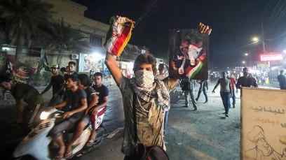 Demonstrators storm the Iranian consulate in Iraq (Photo: AFP)