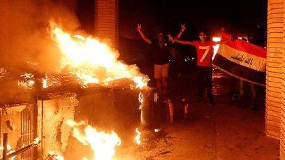 Iraqi protesters set fire to Iran consulate  (Photo: Reuters)