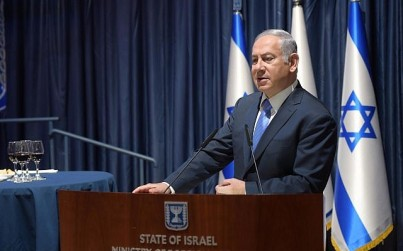 Prime Minster Benjamin Netanyahu speaks at the Foreign Ministry on September 3, 2018. (Amos Ben-Gershom / GPO)