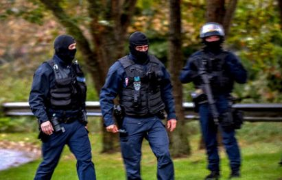 Around 200 French police launched a dawn anti-terror raid on one of the biggest Shiite Muslim centres in France, the Zahra Centre (AFP Photo/Philippe HUGUEN)