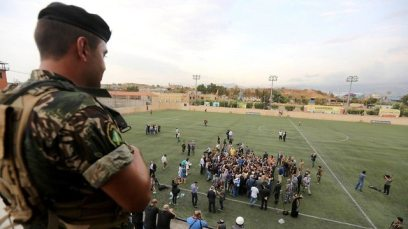 Hezbollah soccer stadium (Photo: Reuters)