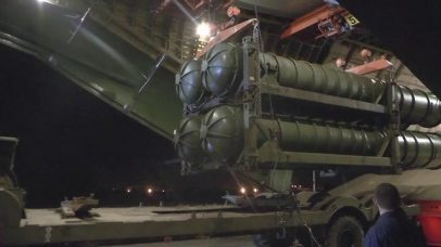 The newly supplied S-300 missile system