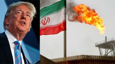 US President Trump and an Iranian oil rig (Photo: AP, Reuters)