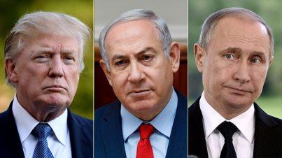 US President Donald Trump, Prime Minister Benjamin Netanyahu and Russian President Vladimir Putin (left to right) (Photo: MCT, AFP, Reuters)
