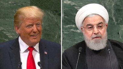 US President Trump; Iran President Rouhani