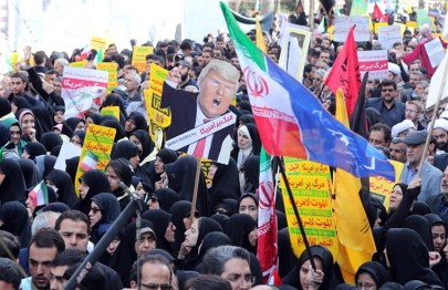Image: Anti-US protesters commemorate takeover of US embassy in Iran