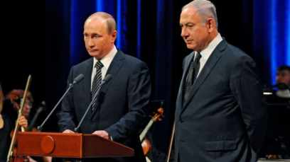 Putin and Netanyahu at a concert marking 25 years since the establishment of diplomatic relations between the two nations, 2016.